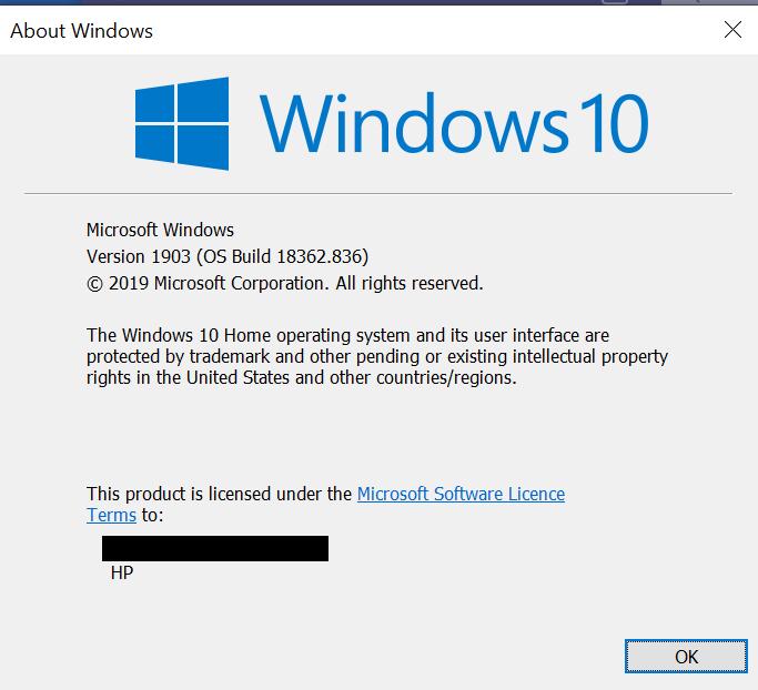 Windows system update